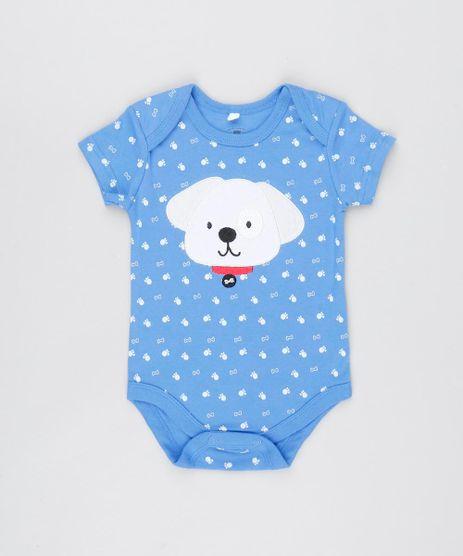 Body-Infantil-Cachorro-Estampado-com-Ossinhos-Manga-Curta--Azul-9448729-Azul_1