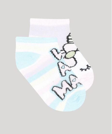 Kit-de-2-Meias-Infantis-Soquete-Unicornio-Multicor-9327912-Multicor_1