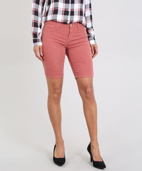 Bermuda-de-Sarja-Feminina-Ciclista-Rosa-Escuro-9397713-Rosa_Escuro_1