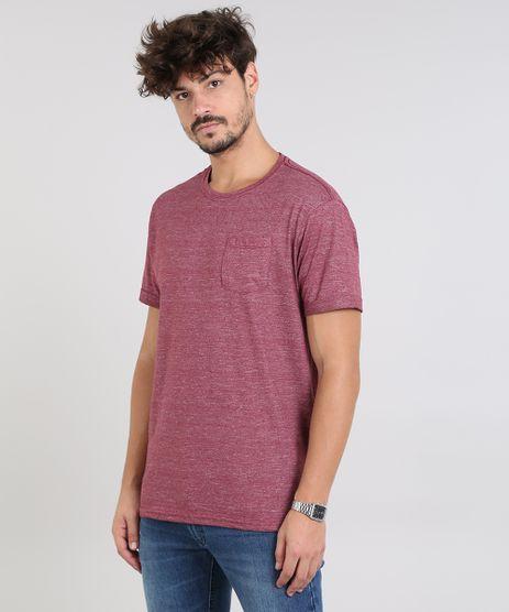 Camiseta-Masculina-Flame-com-Bolso-Manga-Curta-Gola-Careca-Vinho-9540853-Vinho_1