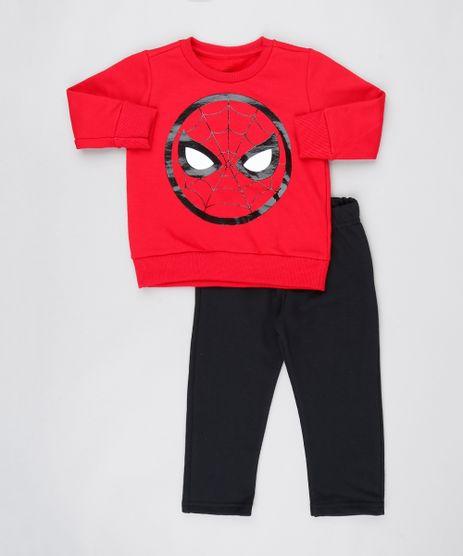 Conjunto-Infantil-Homem-Aranha-de-Blusao-Vermelho---Calca-em-Moletom-Preto-9502406-Preto_1