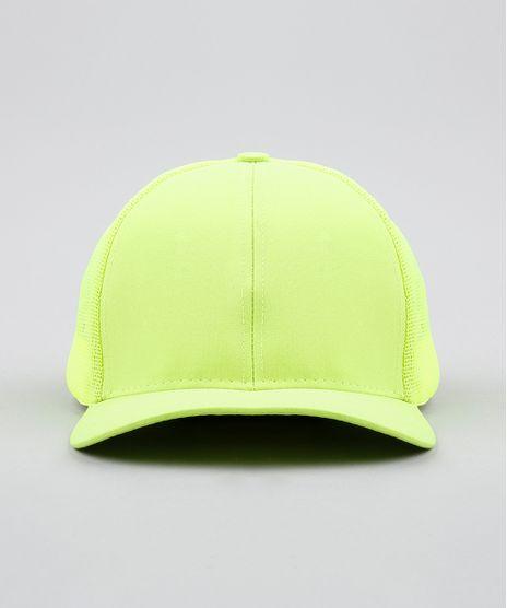Bone-Masculino-Aba-Curva-com-Tela--Verde-Neon-9590590-Verde_Neon_1