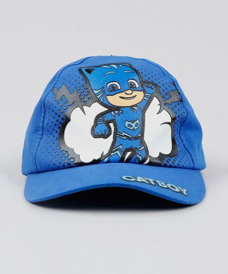 Bone-Infantil-Aba-Curva-PJ-Masks-Menino-Gato-Azul-9542367-Azul_1