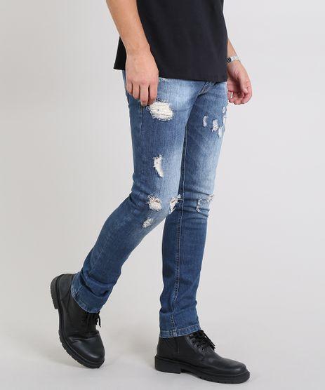 Calca-Jeans-Masculina-Skinny-Destroyed-Azul-Escuro-9531397-Azul_Escuro_1