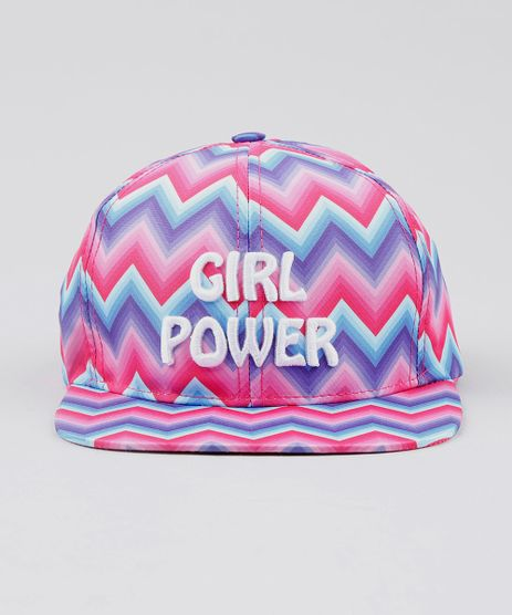 Bone-Infantil-Aba-Reta--Girl-Power--Estampado-Chevron--Rosa-9531474-Rosa_1