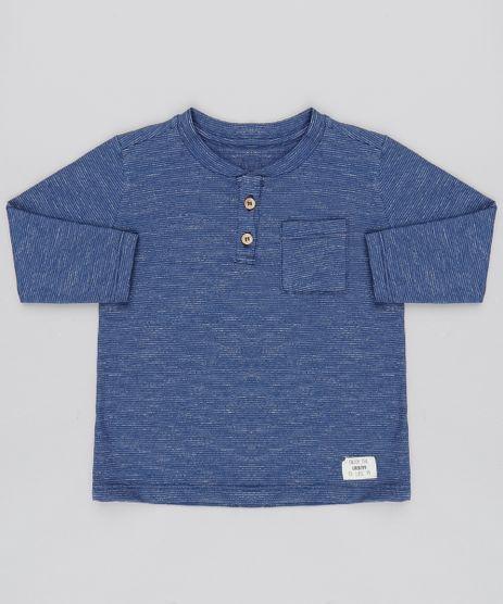 Camiseta-Infantil-com-Bolso-e-Botoes-Manga-Longa-Gola-Careca-Azul-Marinho-9451793-Azul_Marinho_1