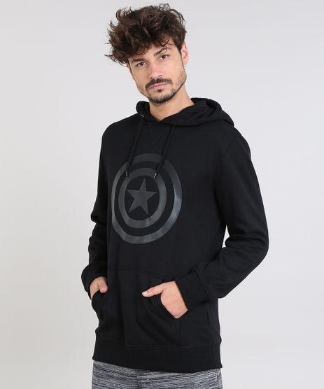 Blusao-Masculino-Capitao-America-com-Capuz-e-Bolso-em-Moletom-Preto-9340183-Preto_1