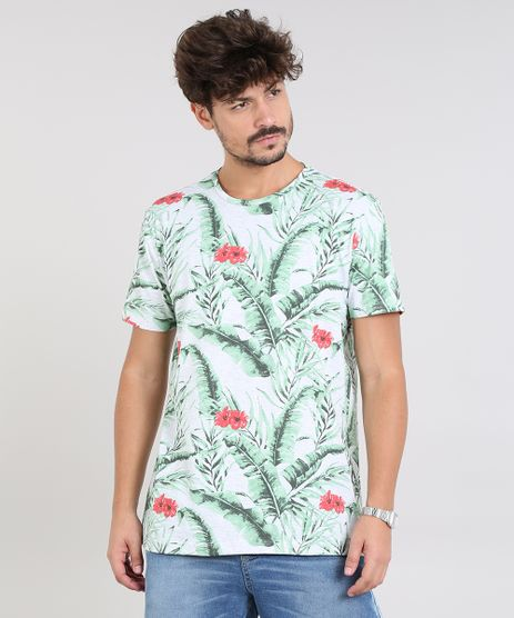 Camiseta-Masculina-Estampada-Tropical-Manga-Curta-Gola-Careca-Cinza-Mescla-Claro-9540847-Cinza_Mescla_Claro_1