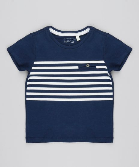Camiseta-Infantil-com-Listras-Manga-Curta-Gola-Redonda-Azul-Marinho-9537827-Azul_Marinho_1