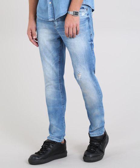 Calca-Jeans-Masculina-Carrot-com-Rasgos-Azul-Claro-9534151-Azul_Claro_1