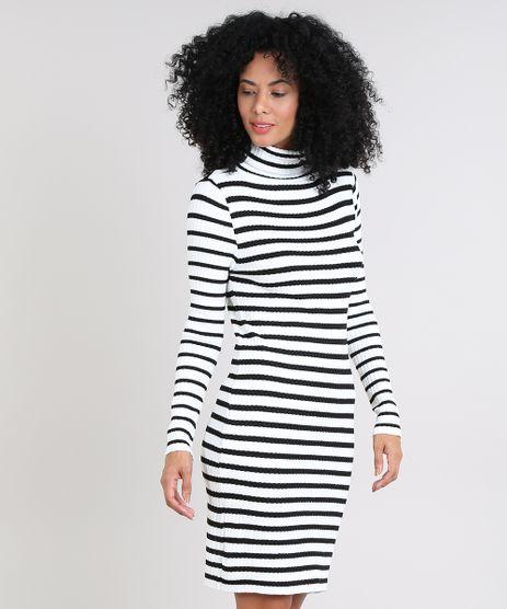 Vestido-Feminino-Curto-Listrado-em-Trico-Manga-Longa-Gola-Alta-Off-White-9571022-Off_White_1
