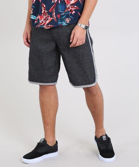Bermuda-Jeans-Masculina-com-Faixa-Contrastante-e-Cordao-Preta-9541776-Preto_1