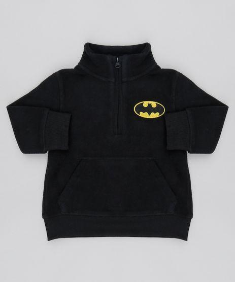 Blusao-Infantil-Batman-em-Fleece-com-Meio-Ziper-Preto-9337033-Preto_1