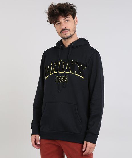 Blusao-Masculino--Bronx--com-Capuz-e-Bolso-em-Moletom-Preto-9362807-Preto_1