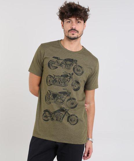Camiseta-Masculina-Motos-Manga-Curta-Gola-Careca-Verde-Militar-9572356-Verde_Militar_1
