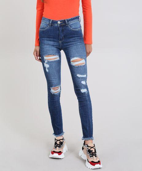 Calca-Jeans-Feminina-Super-Skinny-Destroyed-Azul-Escuro-9589278-Azul_Escuro_1