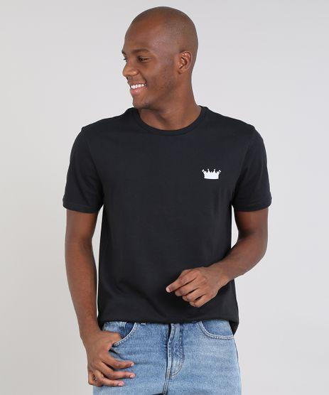 Camiseta-Masculina--King--Manga-Curta-Gola-Careca-Preta-9607966-Preto_1