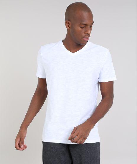 2fff3e8c87 Camiseta-Masculina-Basica-Flame-Manga-Curta-Gola-V-