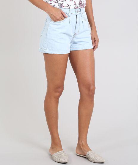 Short-Jeans-Feminino-Mom-Barra-Dobrada-Azul-Claro-9588970-Azul_Claro_1