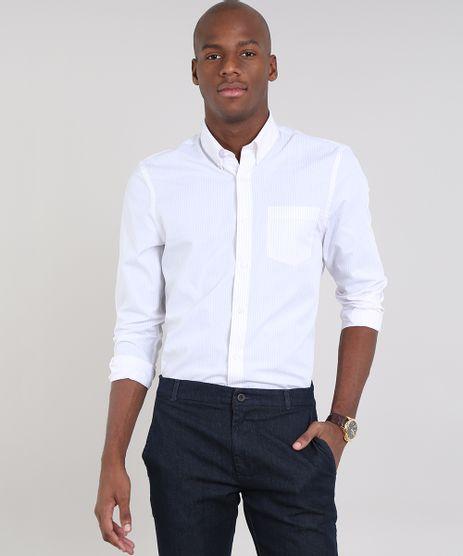 Camisa-Masculina-Comfort-Listrada-com-Bolso-Manga-Longa-Off-White-9448149-Off_White_1