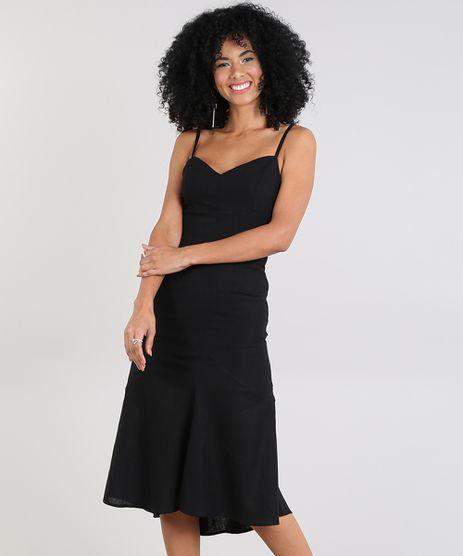 Vestido-Feminino-Midi-com-Linho-e-Fenda-Preto-9588938-Preto_1