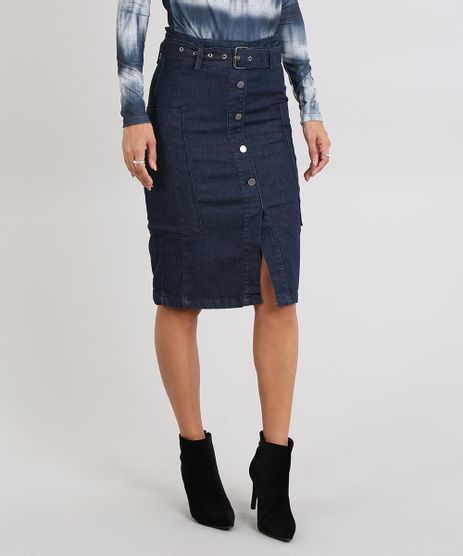 Saia-Jeans-Feminina-com-Cinto-e-Ilhos-Azul-Escuro-9587509-Azul_Escuro_1