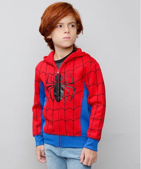 Blusao-Infantil-Homem-Aranha-com-Capuz-em-Moletom-Vermelho-8468788-Vermelho_1