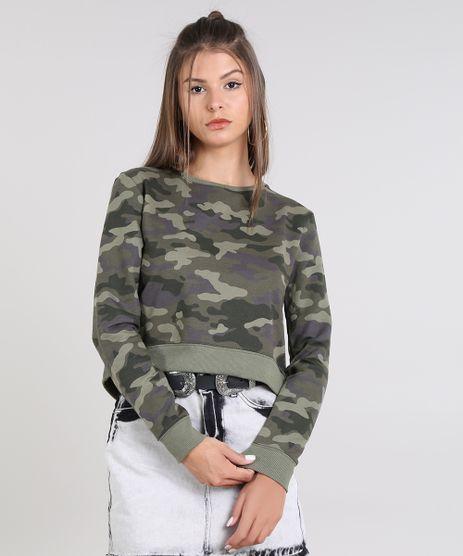 ae525a497 Blusao-Feminino-Cropped-Estampado-Camuflado-em-Moletom-Verde-