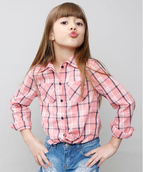 Camisa-Infantil-Xadrez-com-Bolsos-Manga-Longa-Rosa-Claro-9359849-Rosa_Claro_1