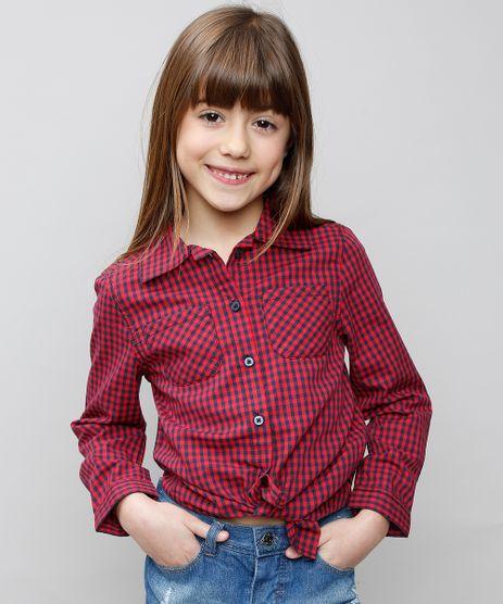 Camisa-Infantil-Estampada-Xadrez-com-Bolso-Manga-Longa-Vermelho-9359848-Vermelho_1