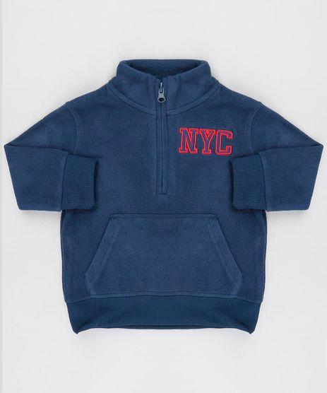 Blusao-Infantil--NYC--em-Fleece-com-Meio-Ziper-Azul-9336216-Azul_1