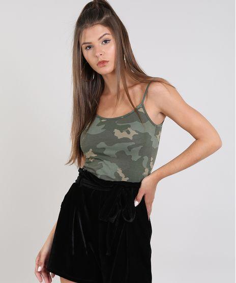 Regata-Feminina-Basica-Estampada-Camuflada-com-Alca-Fina-Verde-Militar-9230322-Verde_Militar_1