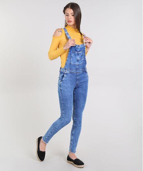 Macacao-Jeans-Feminino-Skinny-com-Bolsos--Azul-Medio-9589541-Azul_Medio_1