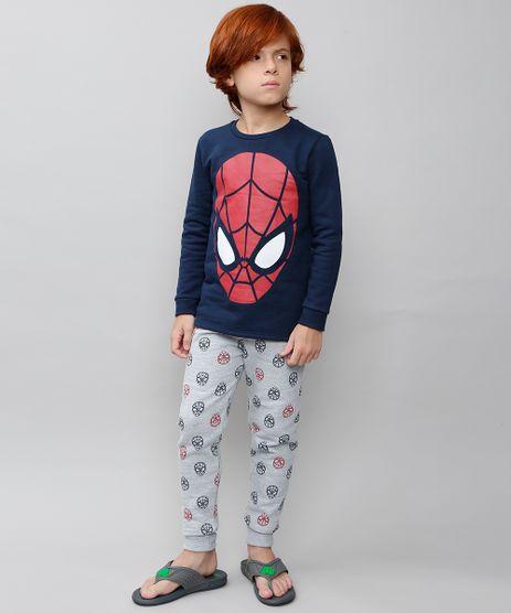 Pijama-Infantil-Homem-Aranha-em-Moletom-Manga-Longa-Azul-Marinho-9528039-Azul_Marinho_1