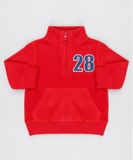 Blusao-Infantil-em-Fleece-com-Meio-Ziper-Vermelho-9336215-Vermelho_1