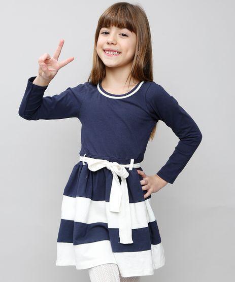 Vestido-Infantil-com-Recortes-e-Laco-Manga-Longa-Azul-Marinho-9537312-Azul_Marinho_1