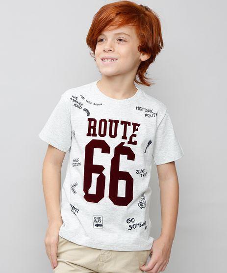 Camiseta-Infantil--Route-66--Manga-Curta-Cinza-Mescla-Claro-9527246-Cinza_Mescla_Claro_1