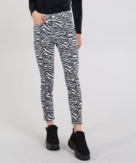 Calca-de-Sarja-Feminina-Super-Skinny-Estampada-Animal-Print-Branca-9587492-Branco_1