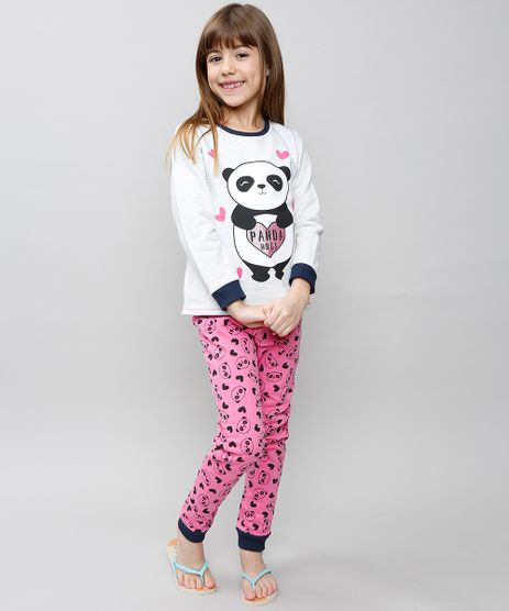 Pijama-Infantil-Panda-com-Glitter-em-Moletom-Manga-Longa-Cinza-Mescla-Claro-9527877-Cinza_Mescla_Claro_1