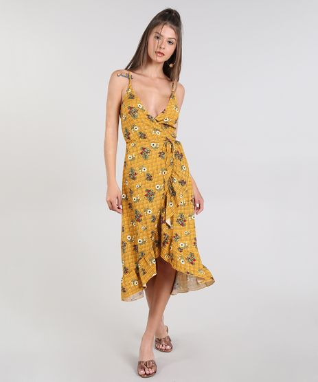 Vestido-Feminino-Midi-Envelope-Estampado-Floral-Alca-Fina-Mostarda-9440467-Mostarda_1