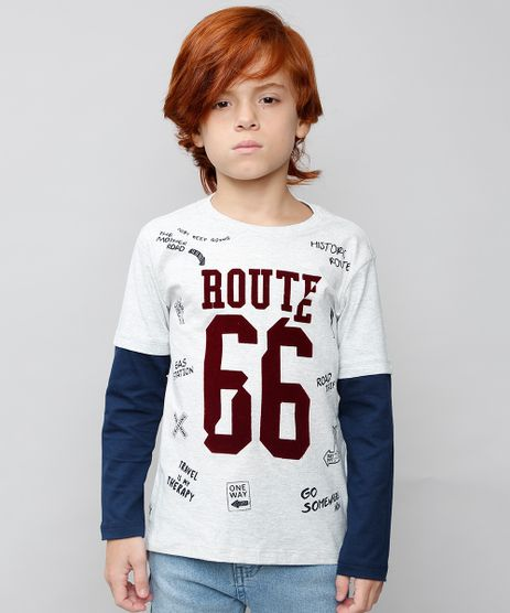 Camiseta-Infantil--Route-66--Manga-Longa-Cinza-Mescla-Claro-9527247-Cinza_Mescla_Claro_1