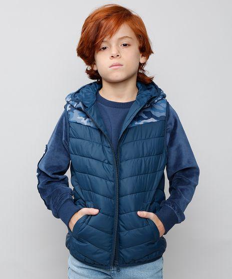 Colete-Puffer-Infantil-Camuflado-com-Gorro-Azul-Marinho-9363623-Azul_Marinho_1
