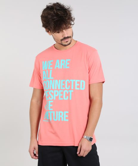 Camiseta-Masculina--Respect-the-Nature--Manga-Curta-Gola-Careca-Coral-9527393-Coral_1