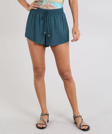 Short-de-Praia-Feminino-Texturizado-Verde-9509961-Verde_1