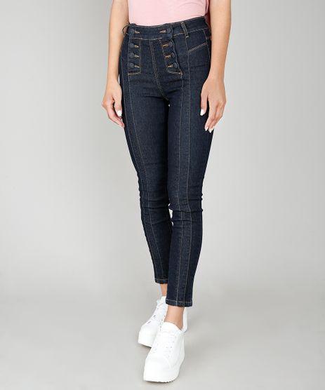 1002d7a9b Calca-Jeans-Feminina-Skinny-Sawary-com-Recortes-e-