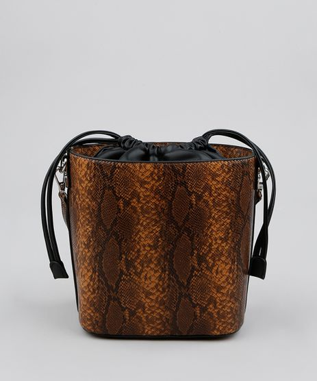 Bolsa-Feminina-Bucket-Media-Croco-Estampada-Animal-Print-Marrom-9483485-Marrom_1