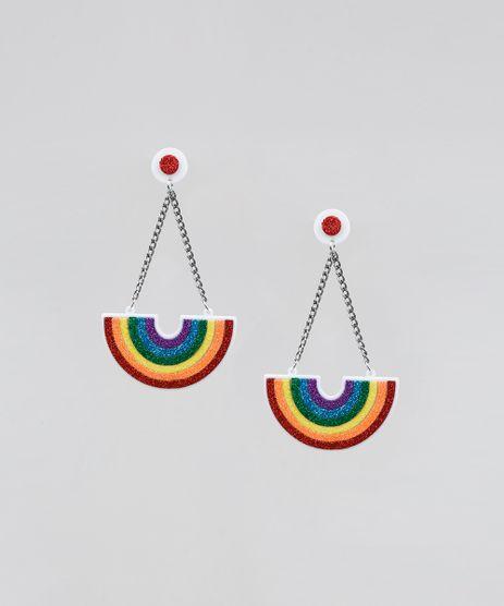 Brinco-Feminino-Pride-Arco-Iris-com-Glitter-Branco-9589269-Branco_1