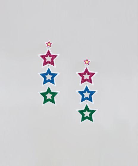 Brinco-Feminino-Pride-Estrelas-com-Glitter-Branco-9589270-Branco_1