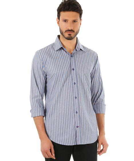 4f65fb9043 cea · Moda Masculina · Camisas. Camisa-Social-Comfort-Listrada-Azul-8452746-Azul 1  ...