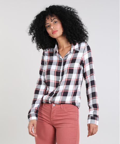 f924b930b0e7 Camisas Femininas: Jeans, Xadrez, Social, Branca, Estampada | C&A